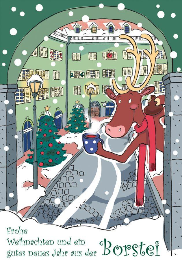 Weihnachtskarte Borstei-Adventskalender