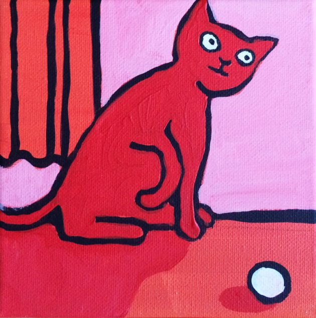 Rote Katze