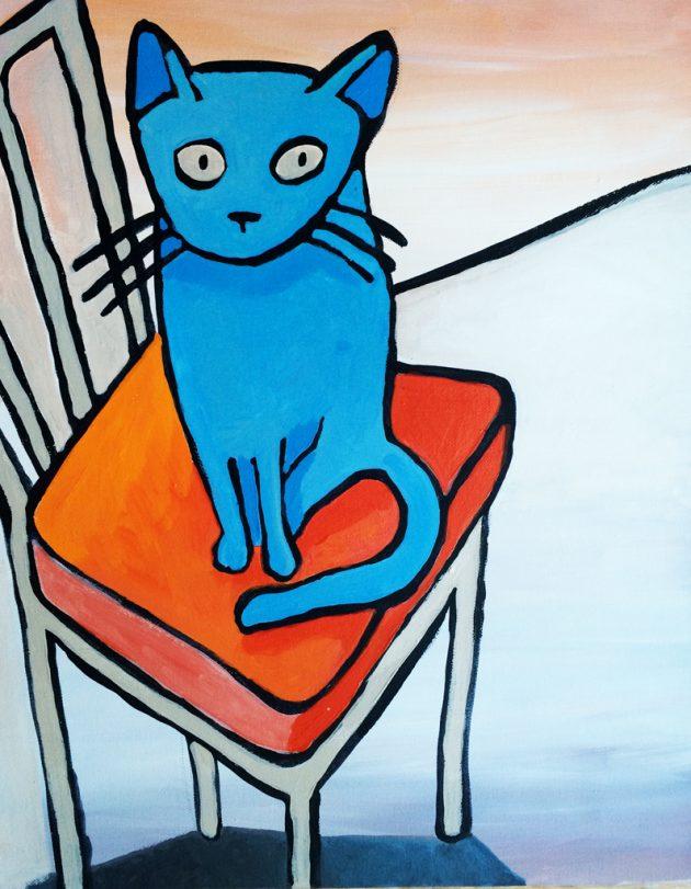 Blaue Katze